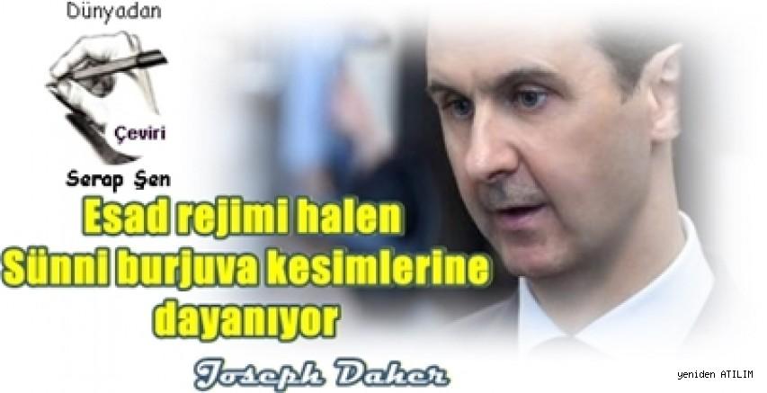 Esad rejimi halen Sünni burjuva kesimlerine dayanıyor  Joseph Daher