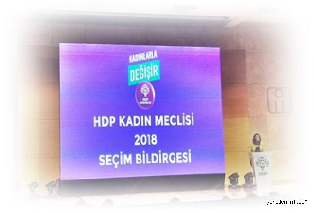 HDP'li kadınlar seçim bildirgesini açıkladı:  'Zincirleri kıra kıra geliyoruz'