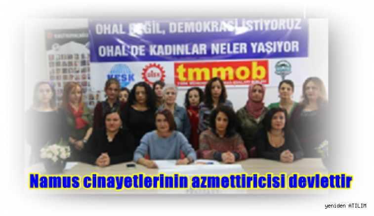İHD Eş Genel Başkanı Eren Keskin,  Namus cinayetlerinin azmettiricisi devlettir