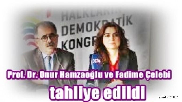 Prof. Dr. Onur Hamzaoğlu ve Fadime Çelebi tahliye edildi
